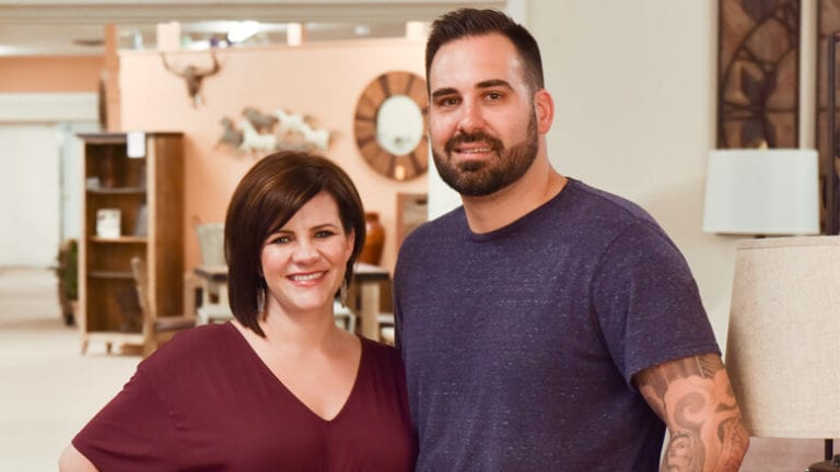 BIG GAMBLE Trevor McAllister and his wife Kasey took a chance when they moved back to Trevor's hometown to run the family business. After a few early struggles, the move appears to be paying off.