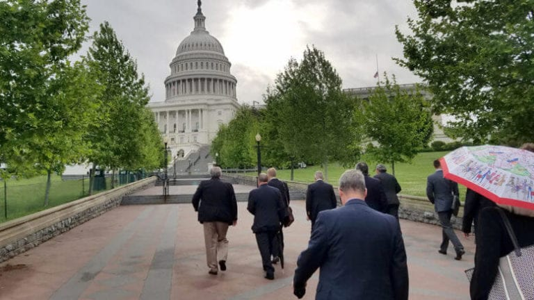 HFA members walking up to the nation's capitol.