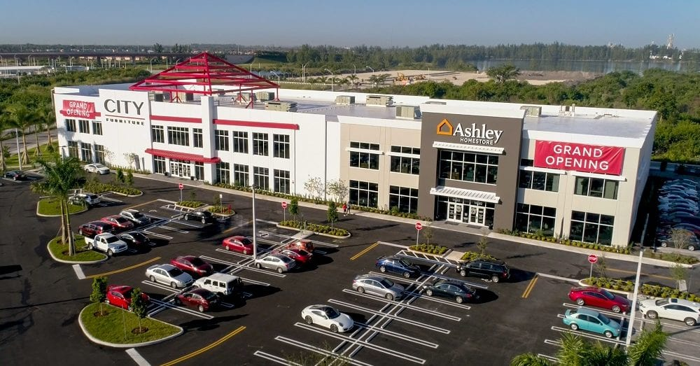 City Furniture's newest store in the Miami community of Doral will be a dual-branded effort with Ashley HomeStore.