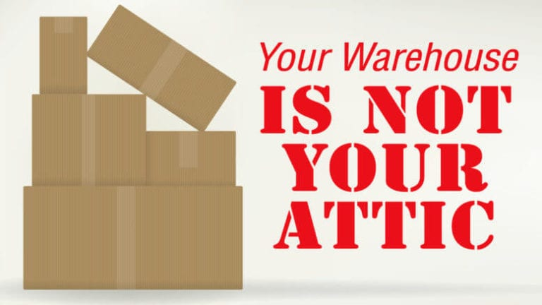 Warehouse is not your attic
