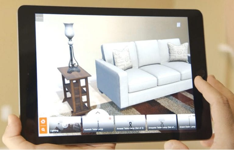 Tablet with AR Technology