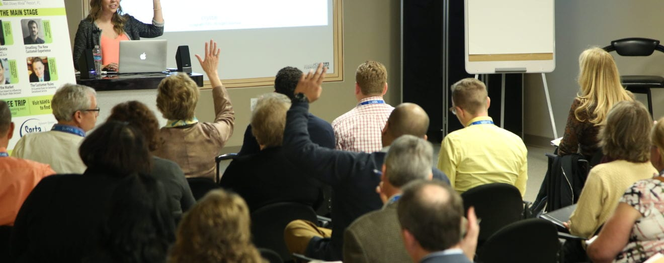 Hands up in the HFA resource center seminar room