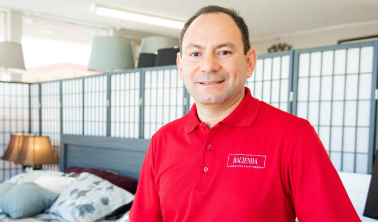 HFA member Joaquin Rodriquez and his store. Hacienda Furniture, does a robust business with Hispanics in Oxnard, Calif.