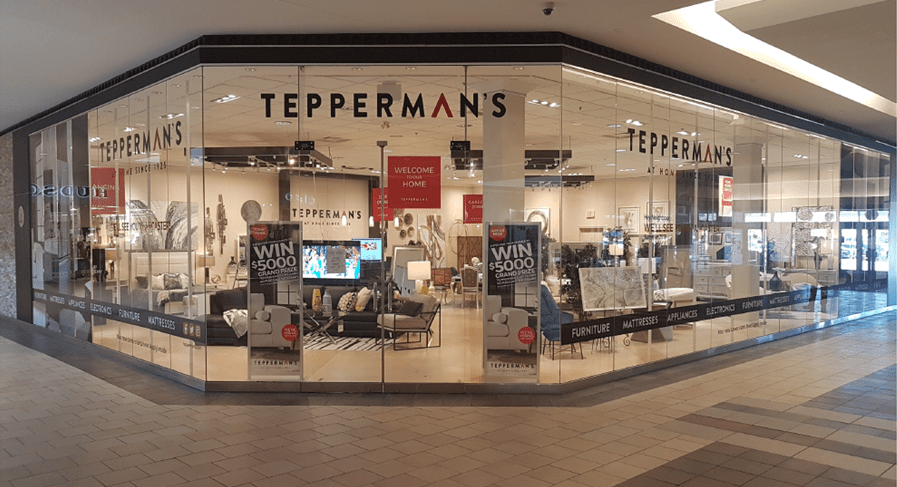 """Tepperman's Furniture opened this """"pop-up store"""" to recruit employees."""