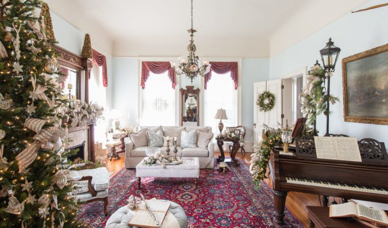 Since 2015, HFA Hermann Furniture has supplied furniture and holiday decorations for a local historical building in Brenham, Texas.