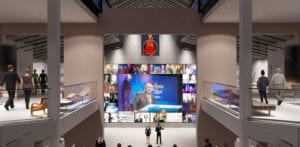 Photo shows interior of Hall of Fame