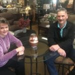 Picture shows Margie and Mike Smith in their furniture store
