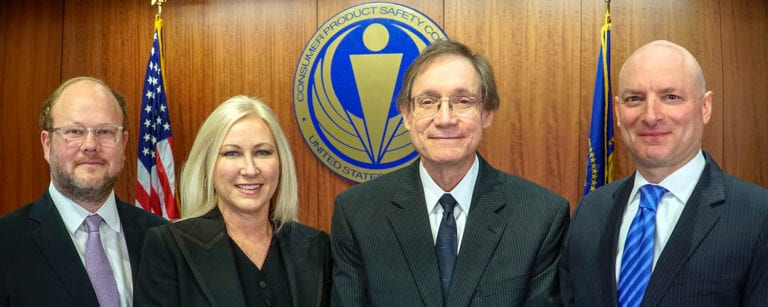 Picture shows four CPSC commissioners