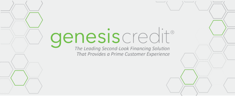 Image shows Genesis Credit logo