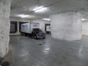 Photo shows a Crowley loading dock.