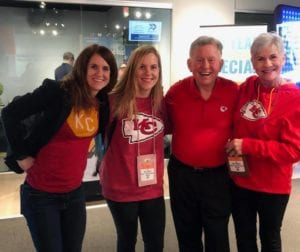 Photo shows Crowley family in Cheifs gear