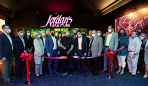 Jordan's President Elliot Tattleman cuts the ribbon to the newest Jordan's store , the one in South Portland, Maine.