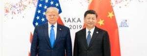 Image shows President Donald Trump and President Xi Jinping