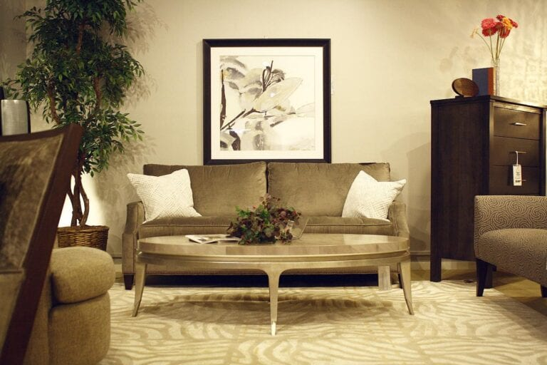 Image shows living room furniture