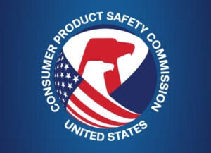 Image shows the logo of the Consumer Products Safety Commission