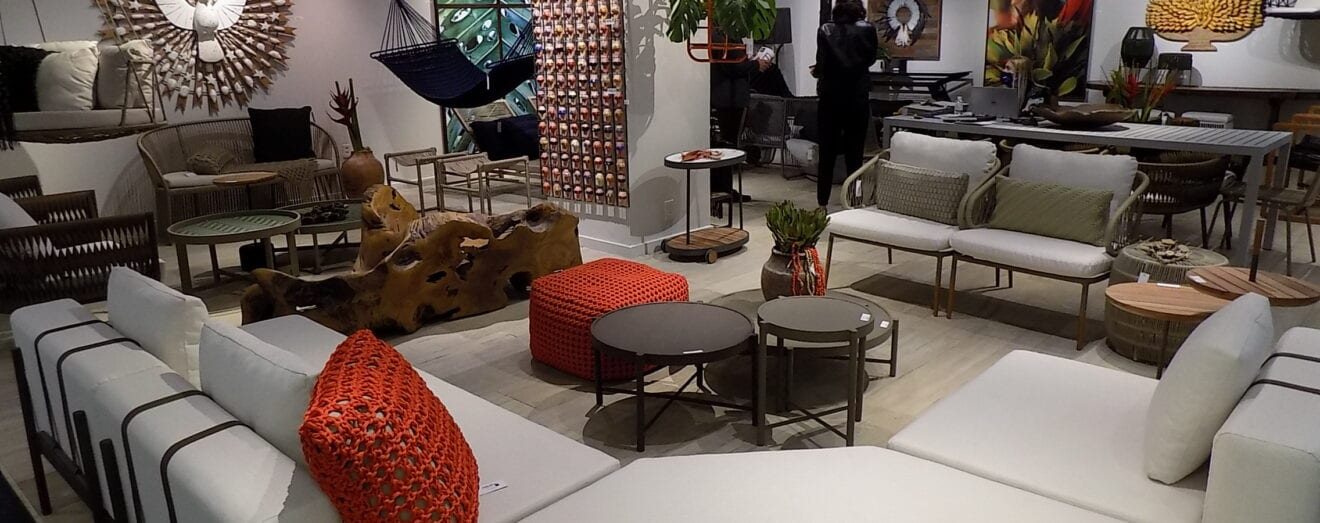 Image shows a furniture showroom