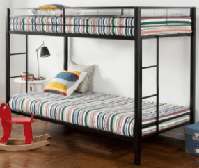 The image depicts a set of bunk beds