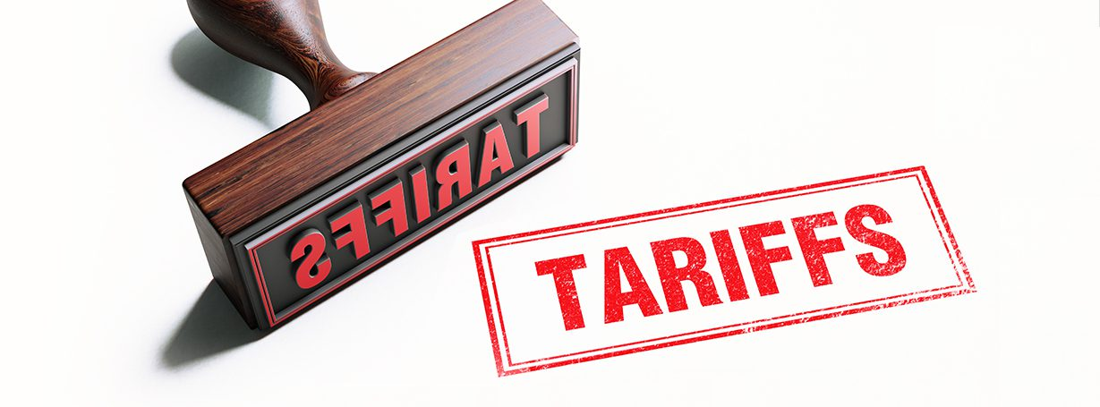 """Stamp with the word """"Tariffs"""" on it"""