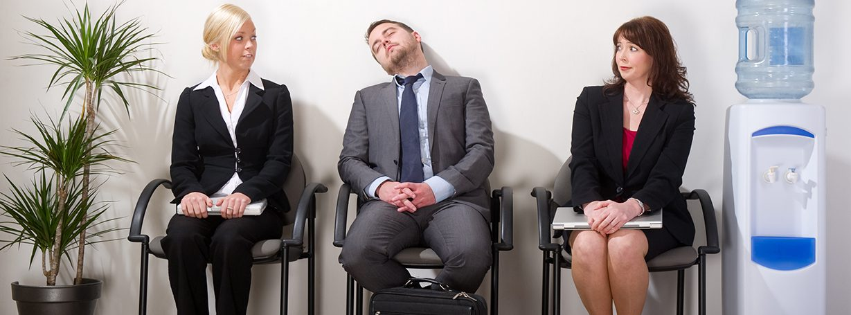 Job applicant asleep_Hiring challenges don't mean lowering your standards_HFA