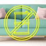 Sofa with a no chemical symbol overlay_HFA chemical regulations
